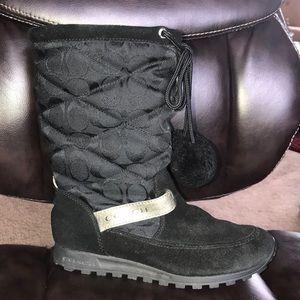 COACH JUNIPER Black C Boots Size 6